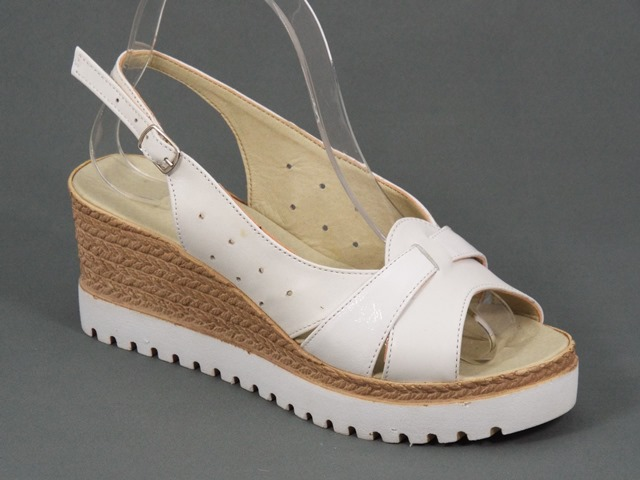 Sandale dama piele albe Darya