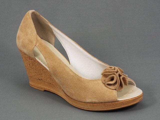 Sandale dama piele intoarsa bej Romyna