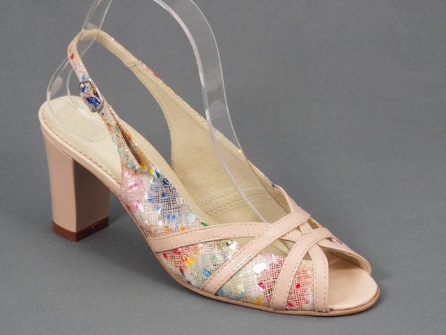 Sandale dama piele bej Elena