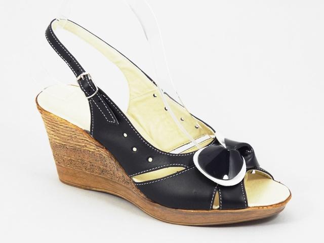 Sandale dama piele bleumarin Janna