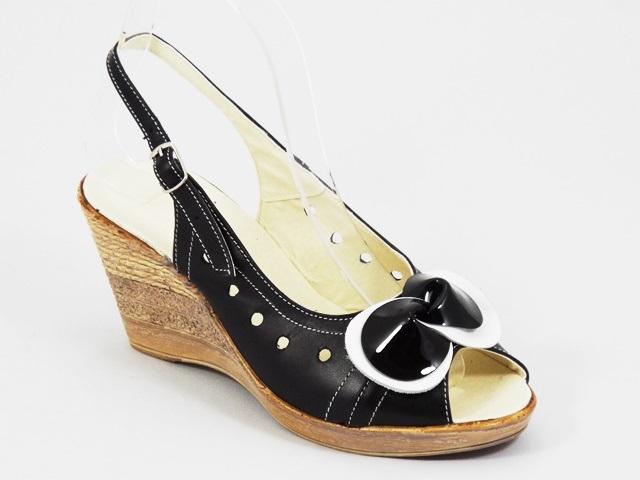 Sandale dama piele negre Janna2