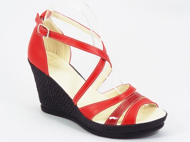 Sandale dama piele rosii Zanna
