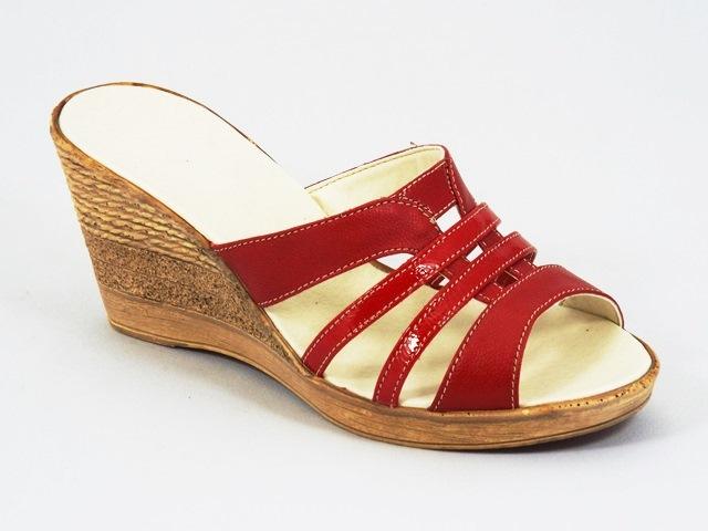 Papuci dama piele rosii Serina