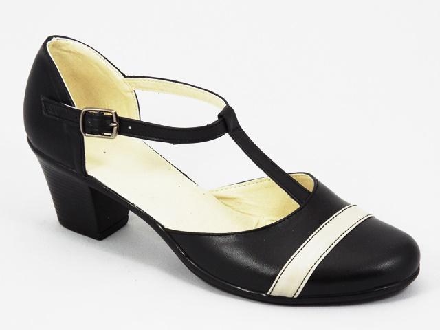 Sandale dama piele negre Lona