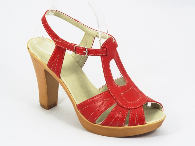 Sandale dama piele rosii Laura