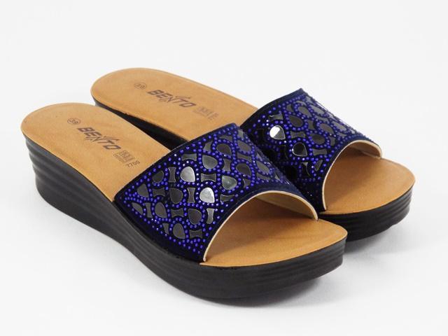 Papuci dama bleu Sonia