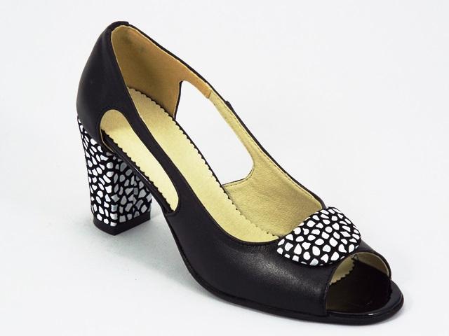Sandale dama piele negre Tania
