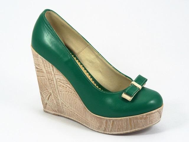 Pantofi dama piele verzi Alina