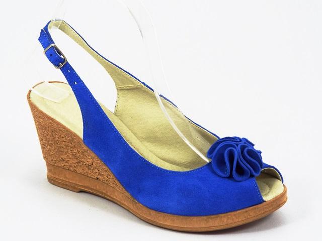 Sandale dama piele bleu Ana