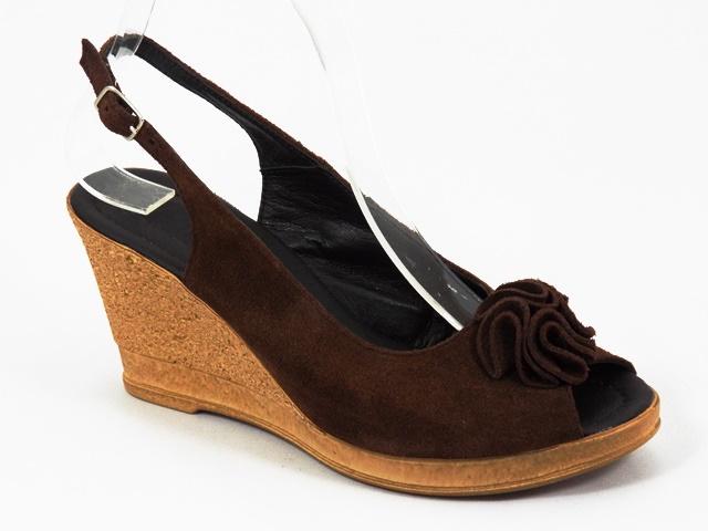 Sandale dama piele maro Ana