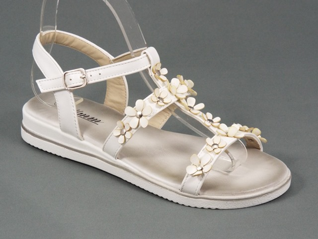 Sandale dama albe Zola