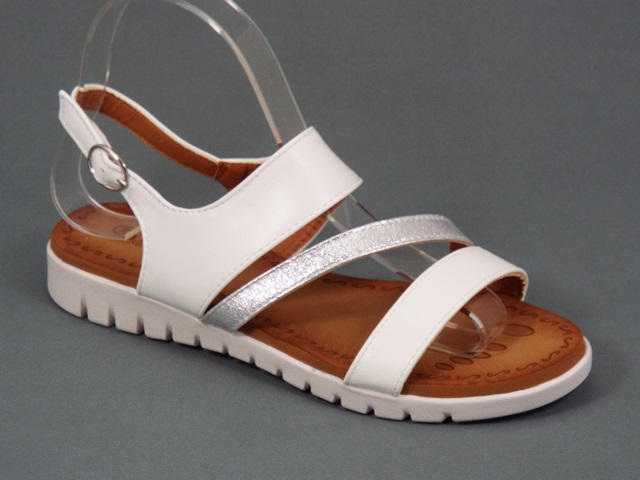 Sandale dama albe Vana