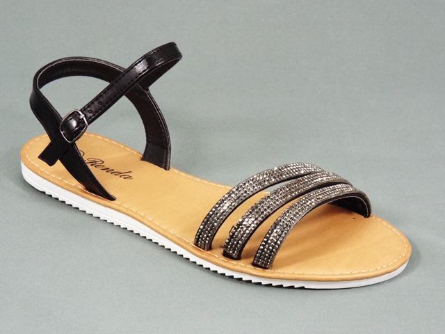 Sandale dama negre Tea