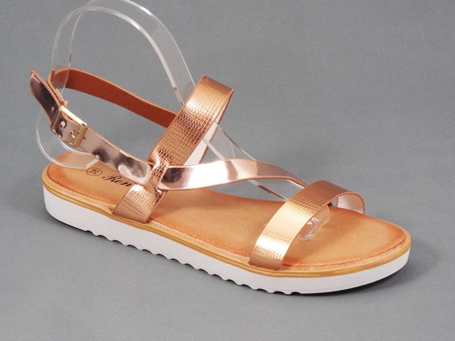 Sandale dama auriu champagne Doina