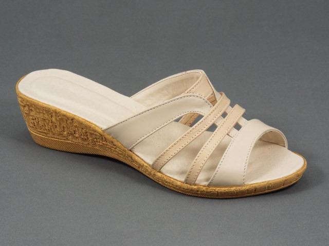 Papuci dama piele bej Aline
