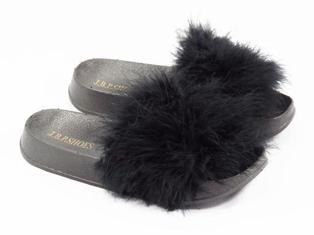 Papuci dama negri puf gasca Alina