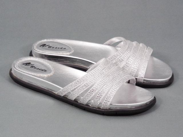 Papuci dama argintii Molina