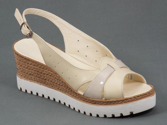 Sandale dama piele bej Darya
