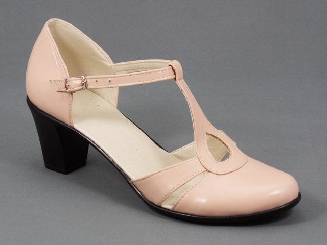 Sandale dama piele bej nude Hanna
