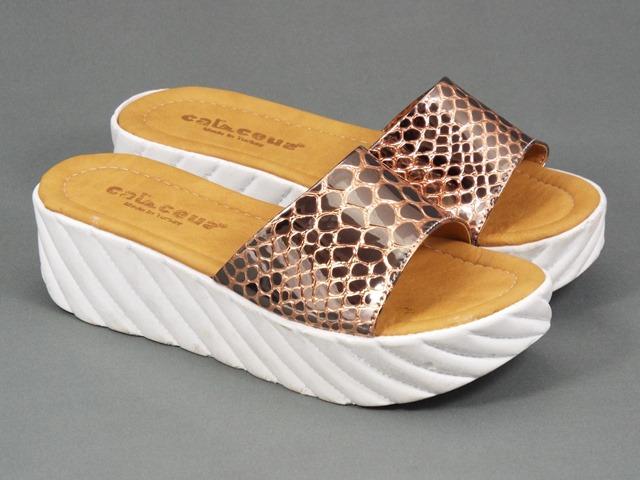 Papuci dama aurii Nadia