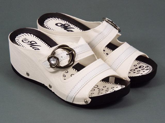 Papuci dama albi Siona