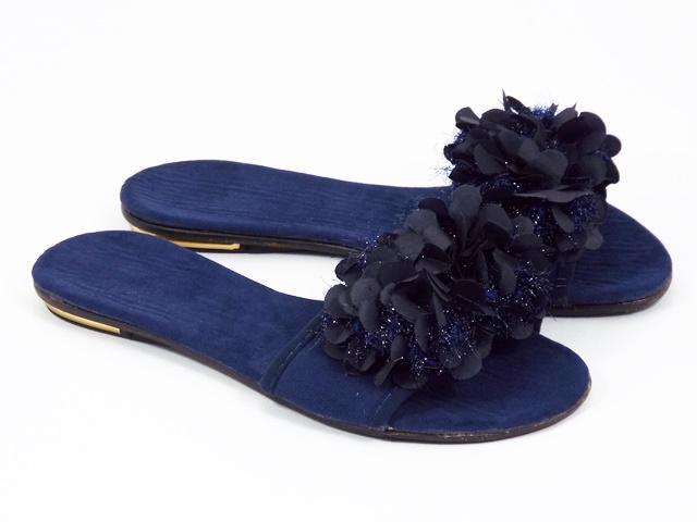 Papuci dama albastri Paula