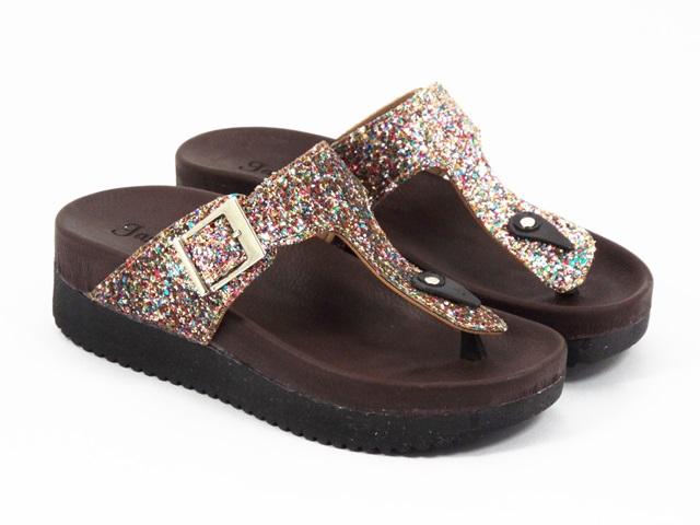 Papuci dama aurii Rezeda