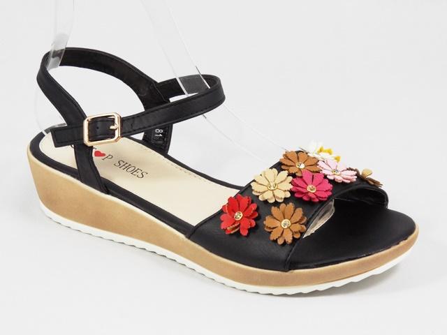 Sandale dama negre Sorina