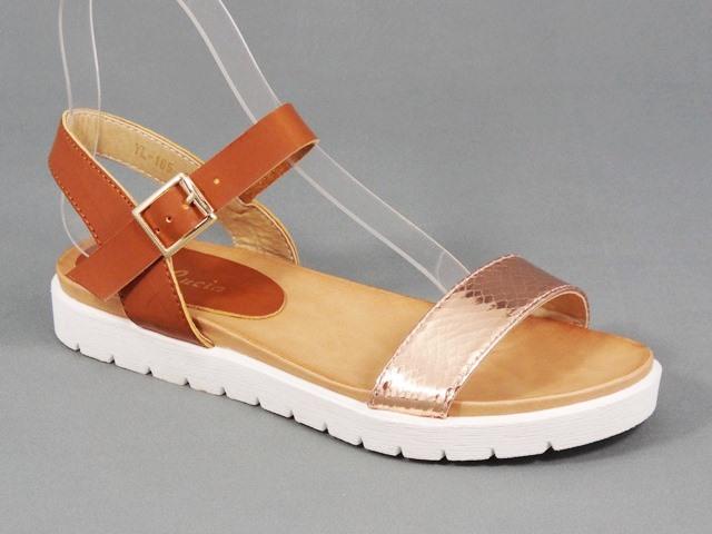 Sandale dama maro cu auriu Olina