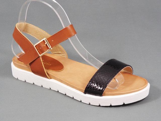 Sandale dama maro cu negru Olina
