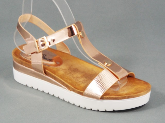 Sandale dama aurii Valena