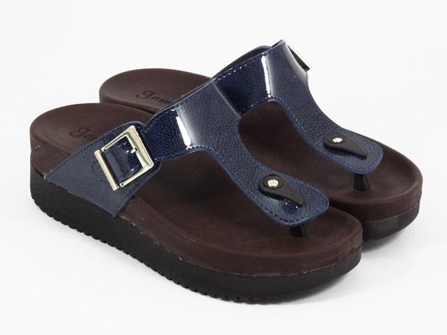 Papuci dama albastri Dalina