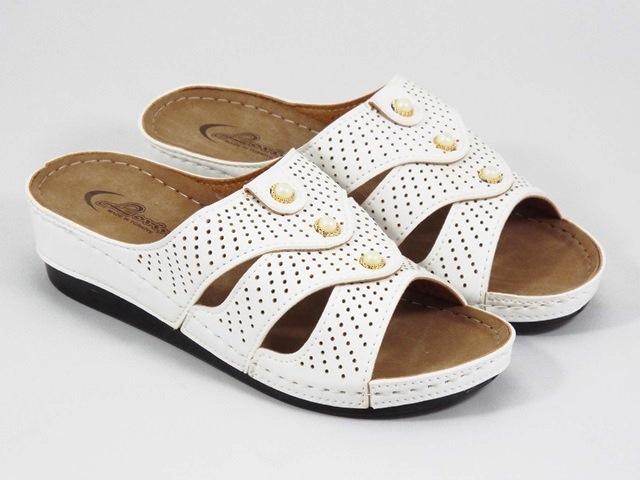 Papuci dama albi Tatiana
