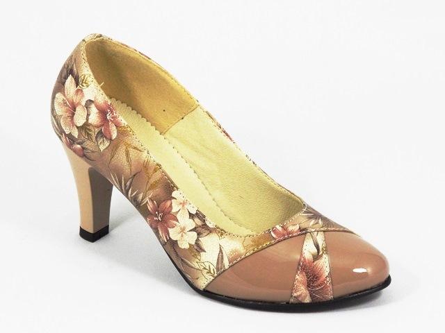Pantofi dama piele bej Soryna