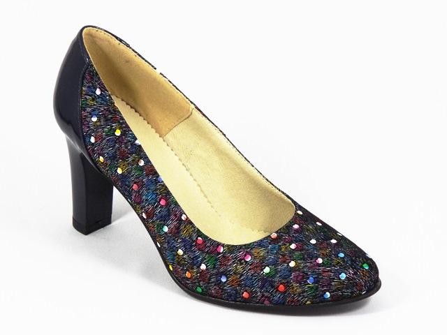 Pantofi dama piele bleumarin Cory