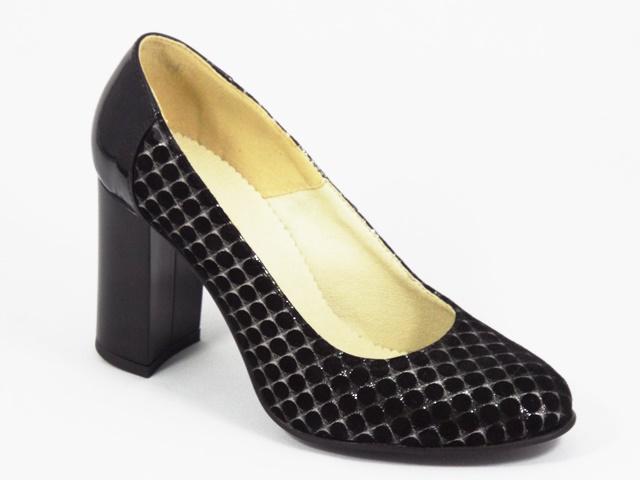 Pantofi dama piele negri Alyce2