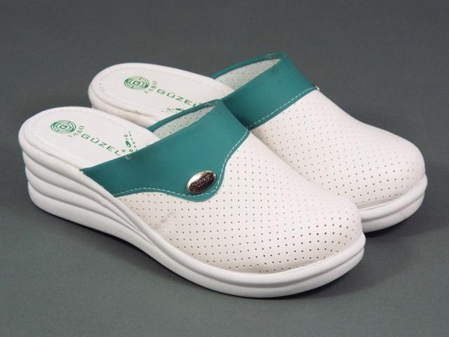 Papuci dama medicinali albi Nona