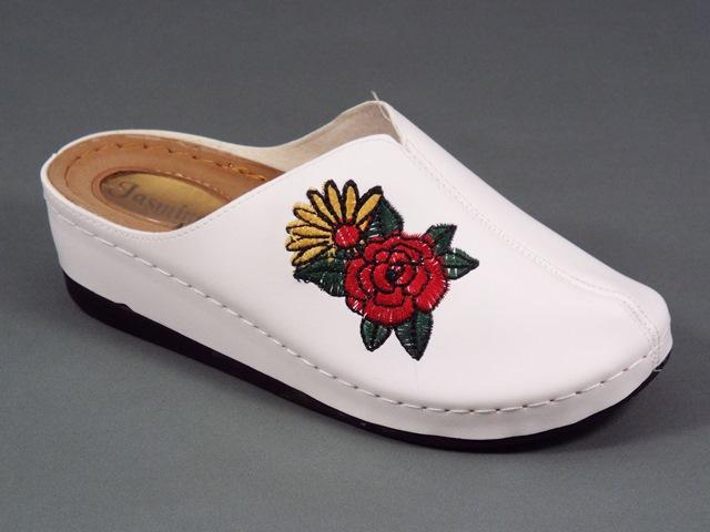 Papuci dama albi Ana