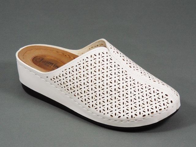 Papuci dama albi Giana