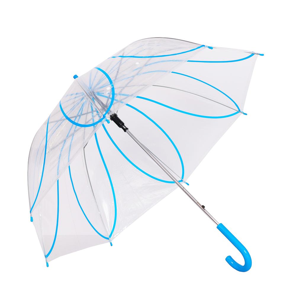 Umbrela dama transparenta cu albastru Ana