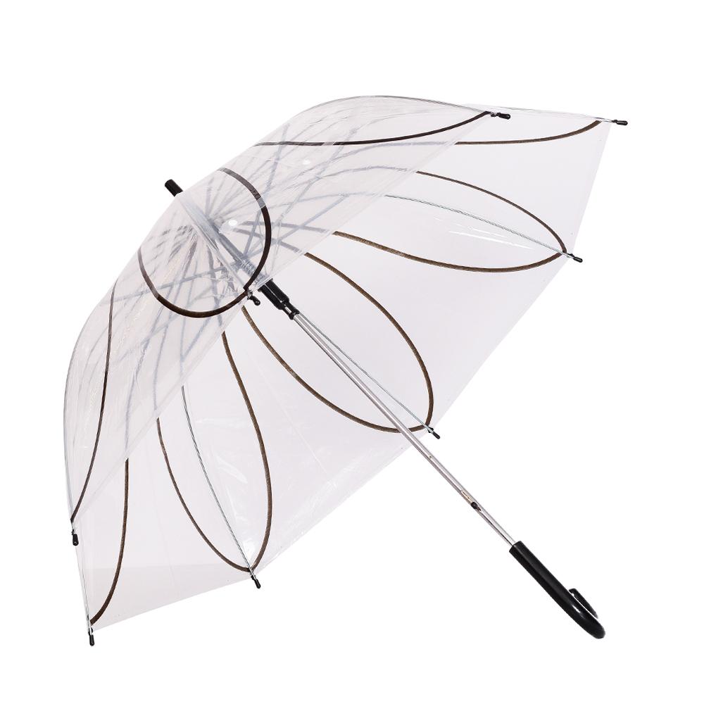Umbrela dama transparenta cu negru Ana