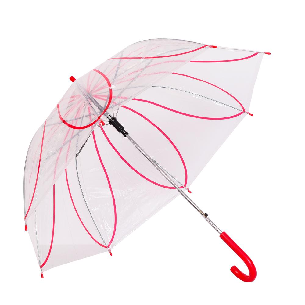 Umbrela dama transparenta cu rosu Ana