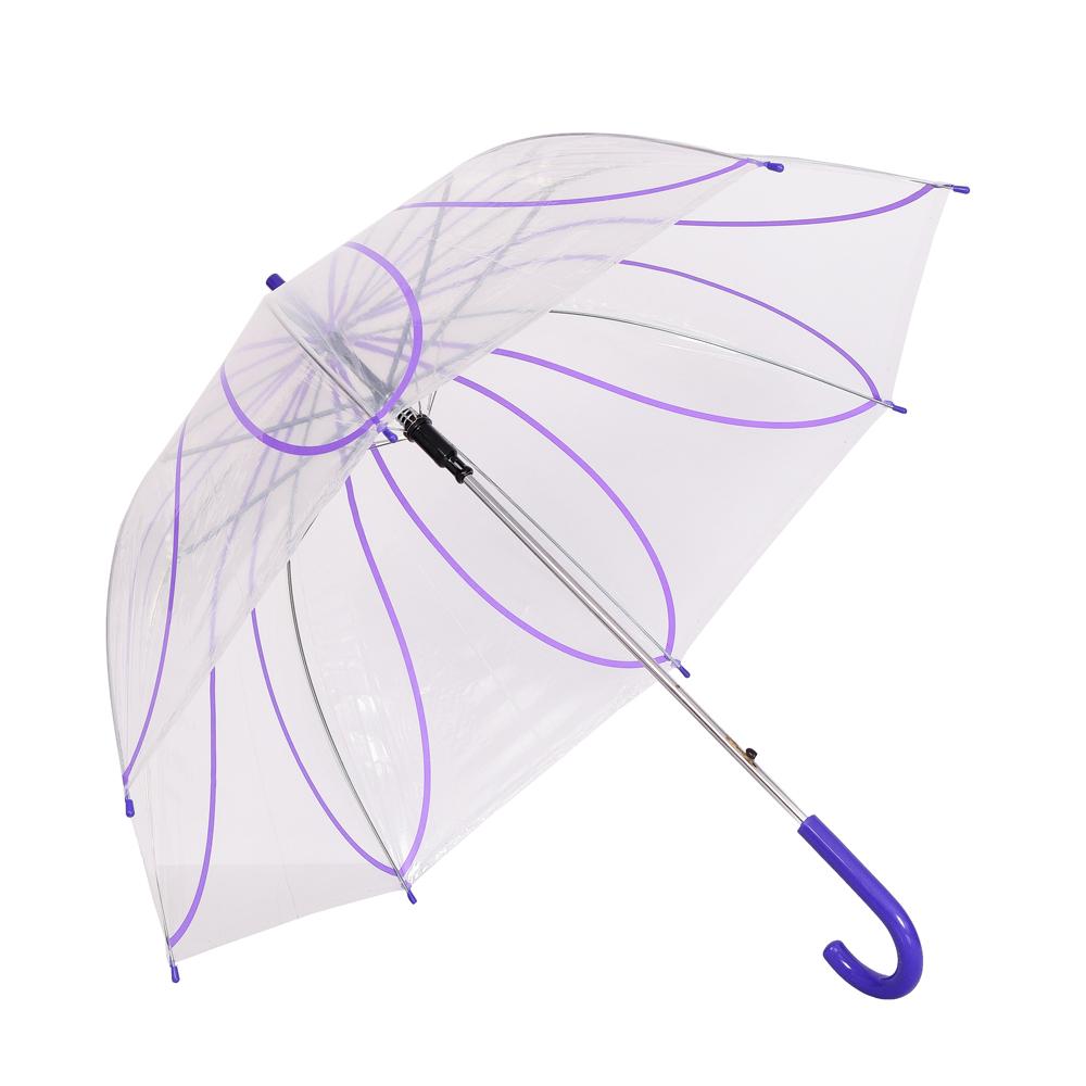 Umbrela dama transparenta cu mov Ana