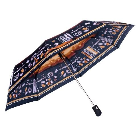 Umbrela dama automata negru cu maro Sina