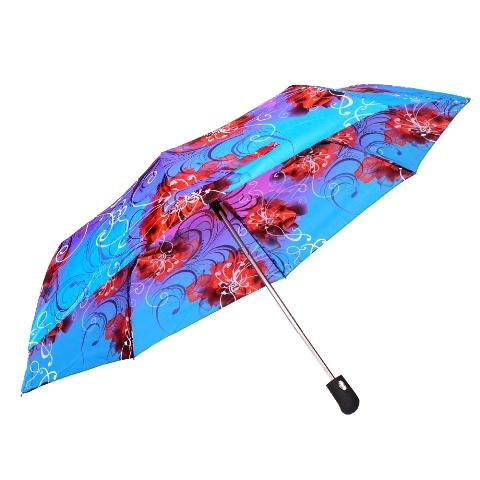 Umbrela dama automata bleu cu rosu Sina