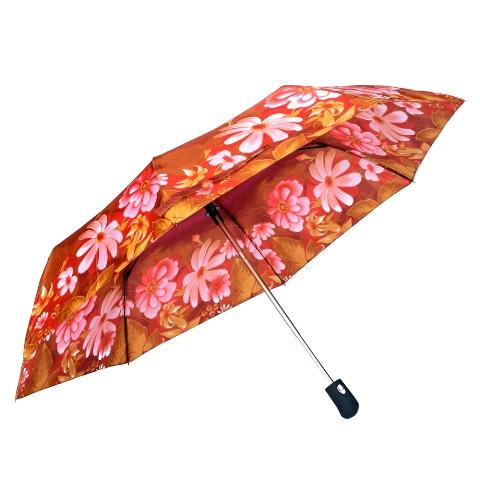 Umbrela dama automata portocaliu cu roz Sina