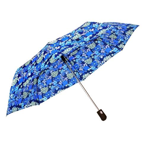 Umbrela dama automata albastru cu alb Sina