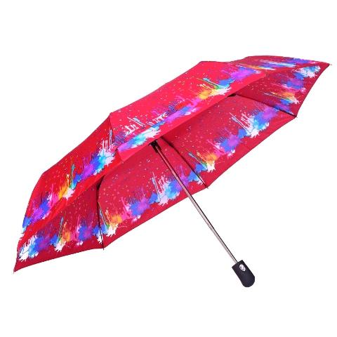 Umbrela dama automata rosu cu albastru Sina