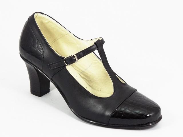Pantofi dama piele negru croco Alma