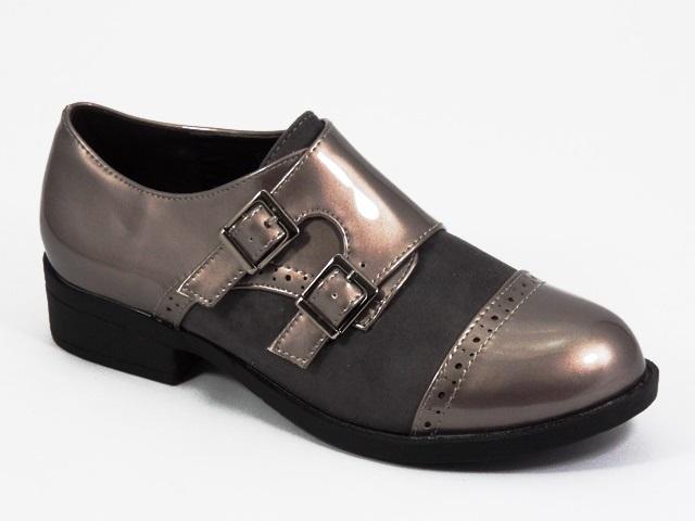 Pantofi dama gri metalizat Fiode